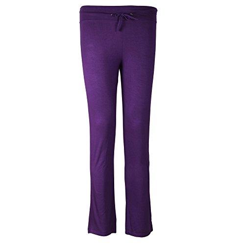 Sidiou Group Pantaloni comodi larghi del piedino corno di moda per donne , Pantaloni per Yoga, Danza, Sport & tempo libero (M, viola)
