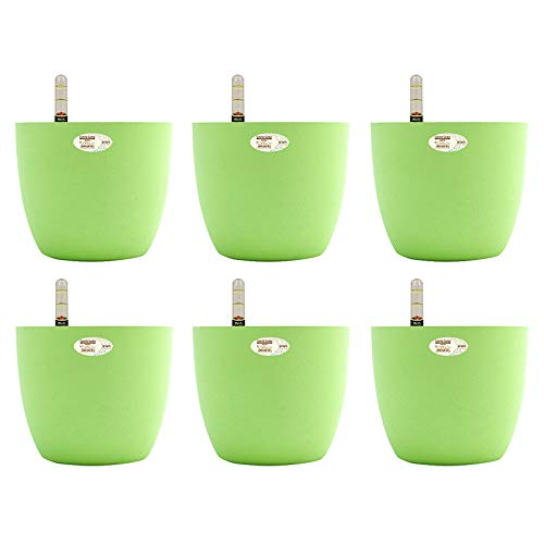 Sungmor Creative Automatic Watering Flowerpot, Multicolored and Several Long Water Storage Plant Pot Planting Pots, Indoor and Outdoor, Color 4 - Orange, Small (15.5cm * 9cm * 11cm) -3pc Pack