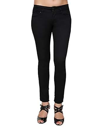 Devis Women's Slim Jeans (LD2047_Midnight Black_38)