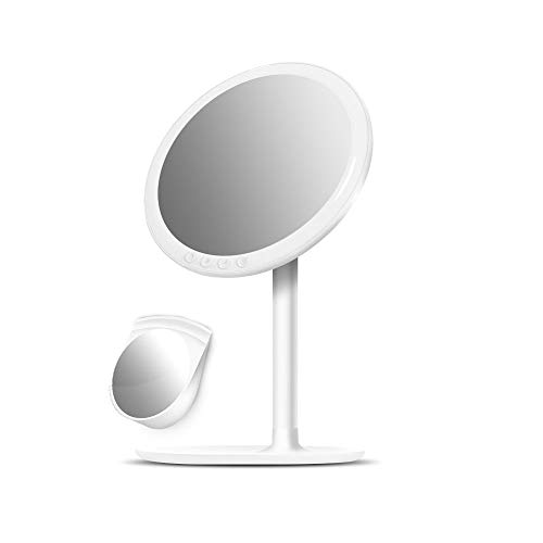 Espejo de maquillaje mirror Bermnn Portable del recorrido del maquillaje del espejo, iluminación LED...