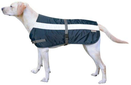 Petlife Warnweste für Hunde, mit warmem Thermofutter, 61cm, marineblau