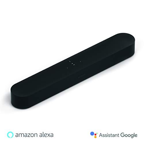 Sonos Beam Smart Soundbar, schwarz - Kompakte TV Soundbar für Fernsehen & Musikstreaming mit WLAN, Alexa Sprachsteuerung & HDMI ARC - AirPlay kompatibler Musik- & TV Lautsprecher