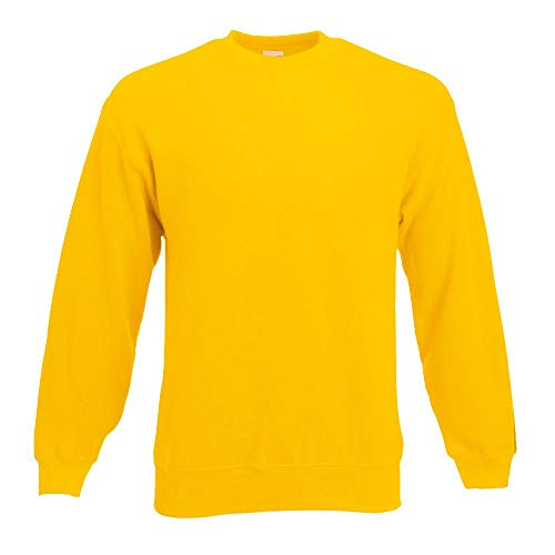 M&m Damen Gelb Kostüm - Fruit of the Loom - Sweatshirt 'Set-In' S,sunflower S,Sunflower
