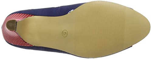 Joe Browns - Remarkable Bow Trim Shoes, Scarpe col tacco Donna Blue (Navy Multi)