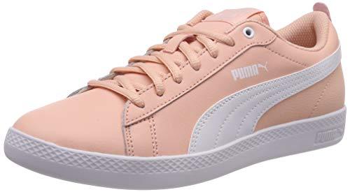 Puma Damen Smash WNS V2 L Sneaker, Pink (Peach Bud-Puma White), 40.5 EU - Damen Pink Schuhe