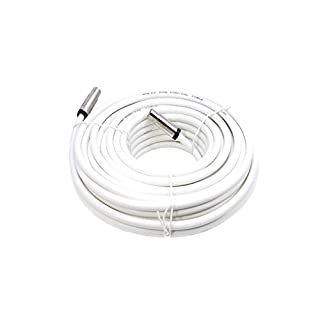 Smedz 10 m Fully Assembled Digital TV Aerial Cable Extension Kit with Male - Male Connections - White