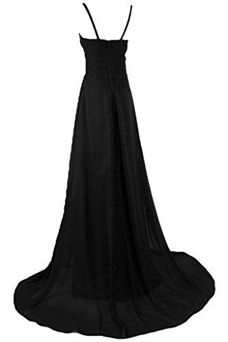 Sunvary una linea lungo chiffon Prom abito estivo con strass Black