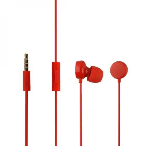 Original Nokia Headset WH-208 in Rot für Lumia 820 InEar In-Ear Kopfhörer Ohrhörer Ohrstöpsel 3,5mm Stecker Stereo Sound Bulk verpackt (Kopfhörer Nokia Lumia)