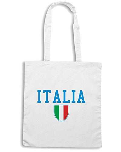 T-Shirtshock - Borsa Shopping T0583 italia calcio ultras Bianco