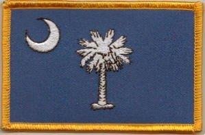 Bandiera patch ricamato Stati Uniti South Carolina - 9 x 6 cm