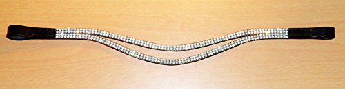Cwell Equine Bling ! Sparky Smily silver Crystal Browband Black Choice of 4 sizes ! 1