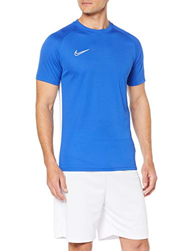 quality design c4a99 caf06 Nike M NK Dry ACDMY Top SS T-Shirt, Hombre, Game Royal White