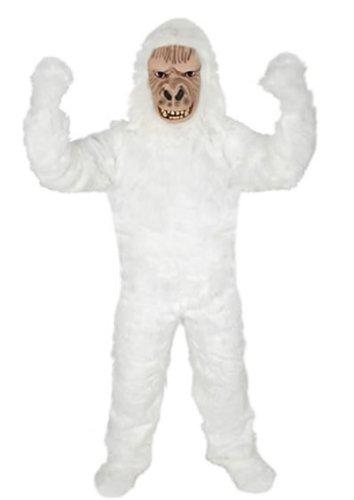 werk-Planet GORILLA WEISS AFFE YETI Gr. XL - XXL KOSTÜM FASCHING KARNEVAL FASTNACHT (Planet Der Affen Gorilla Kostüm)