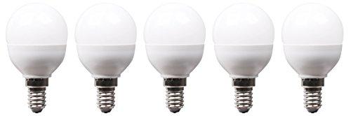 XQ-lite 5-er Pack LED-Lampe E14 5,5 W ersetzt 40 W, 470 Lumen, 180 Grad Abstrahlwinkel, warm weiß XQ13186-5