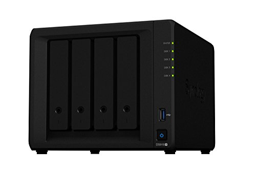 Synology DS918+ 16TB 4 Bay NAS Lösung, mit 4 x 4TB Seagate IrownWolf