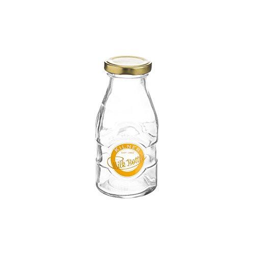 Kilner 1/3Pint Milch Flaschen Flachmann–Vintage Schule Stil Glas Milch Flasche für Retro Getränke - Twist Mit Milch Deckel Flasche