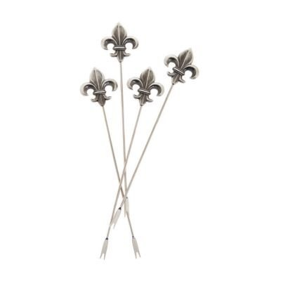 Thirstystone Appetizer Pick, Fleur de Lis, Silver by Thirstystone
