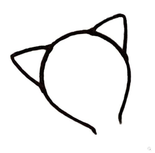 Kanggest 1 Piezas Diademas de Orejas de Gato Christmas Halloween Pelo de la Venda Horquillas Pinzas Pelo Para Fiesta Accesorio el Pelo(Negro)