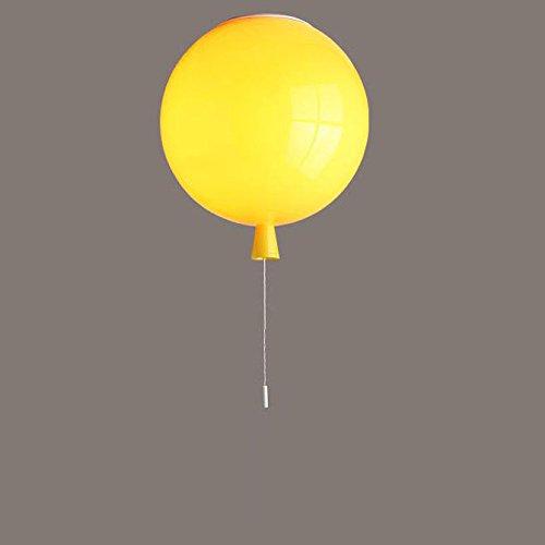 Nickel-metall-schatten (Deckenleuchte Deckenlampe Acrylic Hell Deckenstrahler Ballon Form Beleuchtung Deckenlampen Moderne Flammig Kinderzimmer Leuchte Kind Schlafzimmer Pendelleuchten E27 lampenschirm in verschiedenen Farben (Gelb))