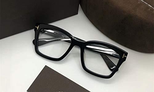 LKVNHP Übergroße Quadratische Sonnenbrille Frauen Spiegel Fahren Großer Rahmen Sonnenbrille Männer Markendesigner Klare Linse Brillengestell Uv400 BrillenSchwarzer Rahmen