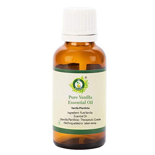 R V Essential Puro de vainilla esencial 30ml de aceite 1.01 oz- Vanilla planifolia 100% puro y natural...