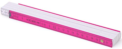 MetrieTM BL52 Holz Zollstock/Zollstöcke |2m langer Gliedermaßstab, Maßstab|Meterstab mit Duplex-Teilung - Rosaweiß