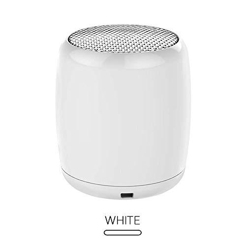 Tragbare Lautsprecher Tragbarer Lautsprecher Wiederaufladbarer Bluetooth-Lautsprecher Mit Mikrofon Kabelloser Lautsprecher Musik Selfie Fernauslöser, Weiß - Bluetooth-lautsprecher Fernauslöser
