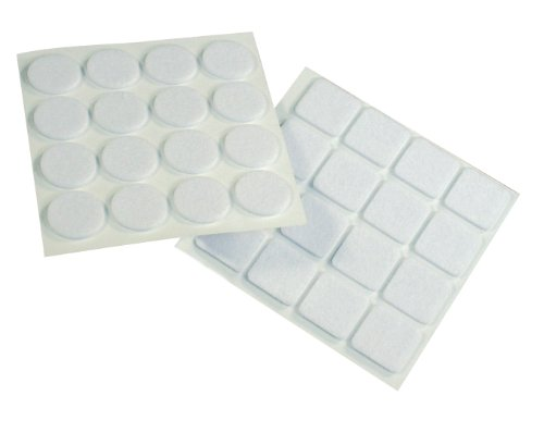 Preisvergleich Produktbild Filzgleiter,  Filz selbstklebend 16 Stk. rund 22 mm,  16 Stk. viereckig 22 mm