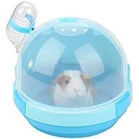 POPETPOP, trasportino Portatile in plastica per Piccoli Animali (Azzurro)