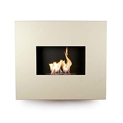 Bio Fires Cream Onyx Wall Mounted Fireplace