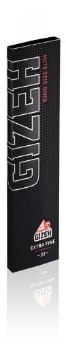 Preisvergleich Produktbild Gizeh Black King Size Slim Extra Fine 25 x 34 Blatt Magnetheft - Smoking Papers