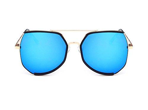 Wicemoon Damen-Sonnenbrille Metall, Flache Gläser (Sunshine, zum Autofahren, UV-Schutz, Brille für Erwachsene, Urlaub, Strand, 2