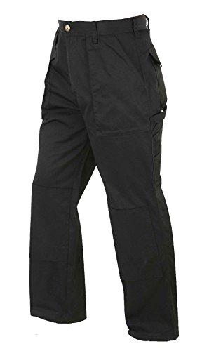 Lee Cooper - Pantaloni cargo da uomo, lunghezza Regular, Nero