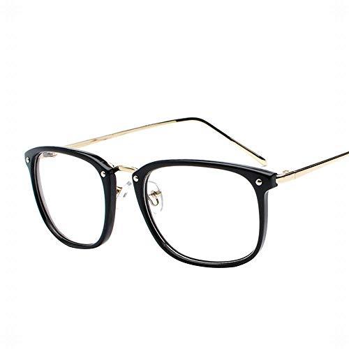 Männer und Frauen Computer Brille Flache Spiegel Lässige Brillenfassungen Nicht Verschreibungspflichtige Klare Linsen. Brille (Farbe : Schwarz)
