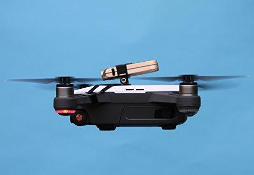Preisvergleich Produktbild Roboterwerk Drone Top Headlight / Foto und Video LED Licht (DJI SPARK Drohne Zubehör Lampen) - 240 Lumen (Kamera Beleuchtung), farbecht (CRI > 90), 15° stufenlos neigbar, bis zu 90 Minuten Akkulaufzeit, Gesamtgewicht 35 Gramm