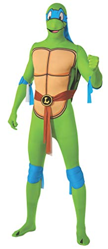 Fancy Dress Mann Zwei Kostüm - Rubie 's Offizielles Leonardo 2 nd Skin Teenage Ninja Turtles, Erwachsenen-Kostüm - X-Large