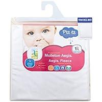 P'tit Lit - Protège-matelas bébé Molleton 100% Coton 60 x 120 cm - Ultra absorbant - Imperméable Respirant Silencieux- Anti-acariens - Ultra Doux