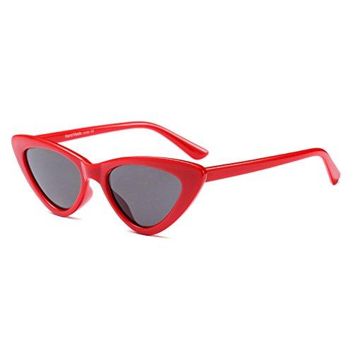 Yying Vintage Cat Eye Sonnenbrille Frauen Clout Brille Dreieck Rahmen UV400 Sonnenbrille