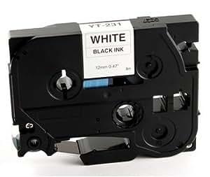 Ruban Cassette Compatible Brother - TZE231 / TZE-231 - P-Touch noir sur Blanc