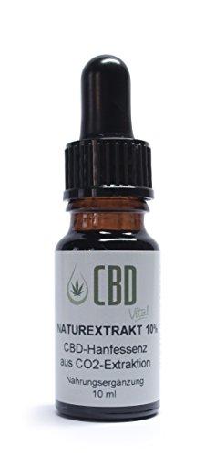 *CBD-Vital Naturextrakt 10 % – 10 ml aus CO2-Extraktion*