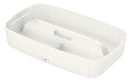 Leitz MyBox, Organiser mit Griff, Klein, Blickdicht, Weiß, Kunststoff, 53234001