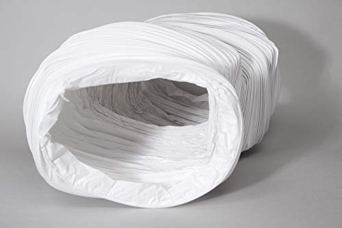 Naplesuk Tubo flessibile rettangolare in PVC da 3 metri, 220 mm x 90 mm, megaduct