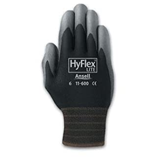 Ansell Size 8 Gray/ Black Hyflex Lite Dipped Gloves by Ansell
