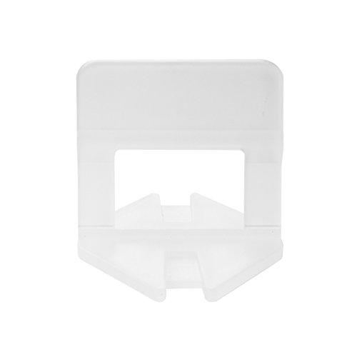 Lantelme 4828 TOP 500 Stück Zuglaschen Fugenbreite 1mm zur Boden oder Wandmontage - Fliesen Nivelliersystem - Verlegesystem - Verlegehilfe