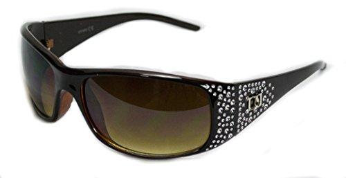 VOX féminines polarisés des lunettes de Designer de mode lunettes de soleil Marron - Amber Frame - Amber Lens