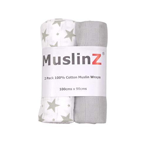 Muslinz Premium - Juego 2 mantas muselina bebé tamaño