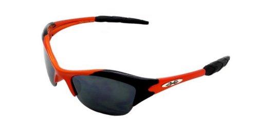 X-Loop Xloop Kinder-Brillen Biker Art Halbrand Schwarz Frame Design Schwarz-Linse Sonnenbrille [Aa594] 1 2 Klein Orange
