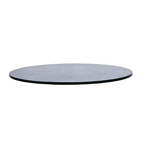 Compact Extérieur Table ronde dm393 haut, 600 mm, épaisseur 13 mm, béton foncé
