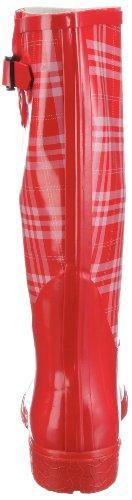 Nora Fashion 76366, Bottes de pluie femme Rouge-TR-J1-4