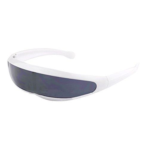 xinzhi Cycling Glasses, Motorrad-Sonnenbrillen Fahrradbrillen Skibrillen Reitausrüstung für Radfahren und Motorsport im Freien - White Frame Grey Sheet